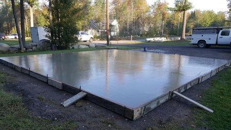 How much does a 30' x 30' concrete slab cost, My actual slab