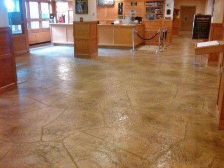 Decorative concrete overlays for How to clean stamped concrete floors