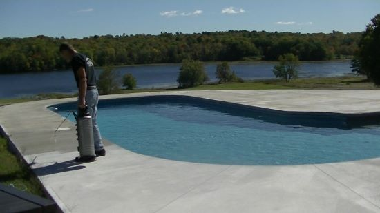How to seal a concrete pool deck