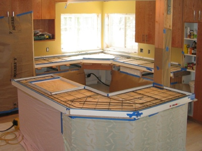 Poured In Place Concrete Countertops