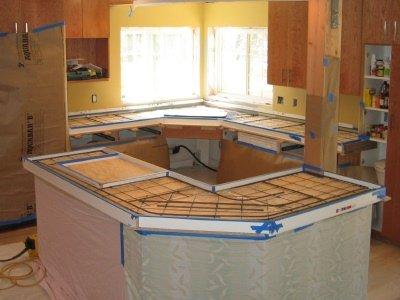 forms in countertops part concrete diy place countertop pour