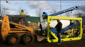 Unloaded with skid steer