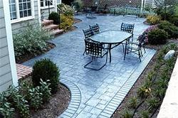 stamped concrete slate